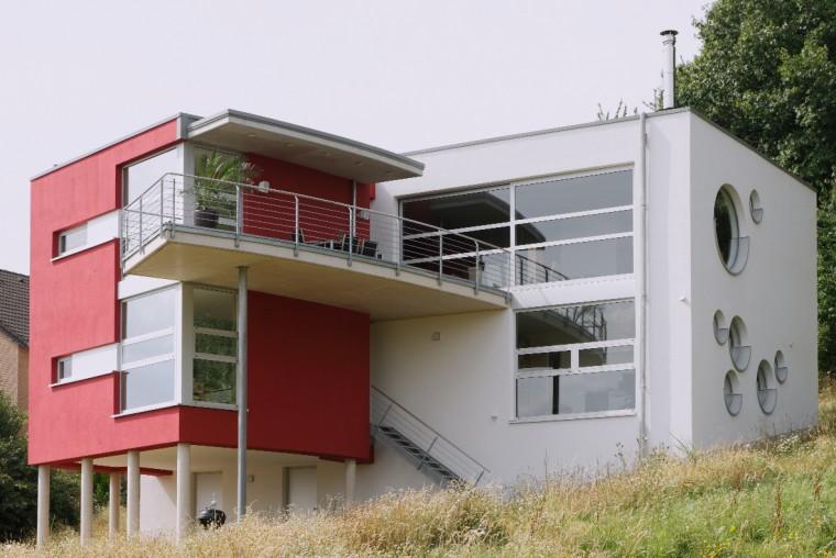 einfamilienhaus am hang potschernik architekten. Black Bedroom Furniture Sets. Home Design Ideas