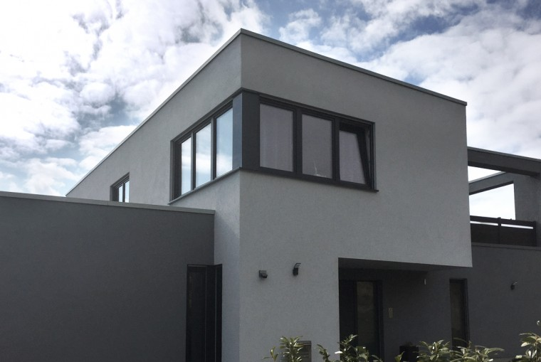 einfamilienhaus mit dachterrasse potschernik architekten. Black Bedroom Furniture Sets. Home Design Ideas