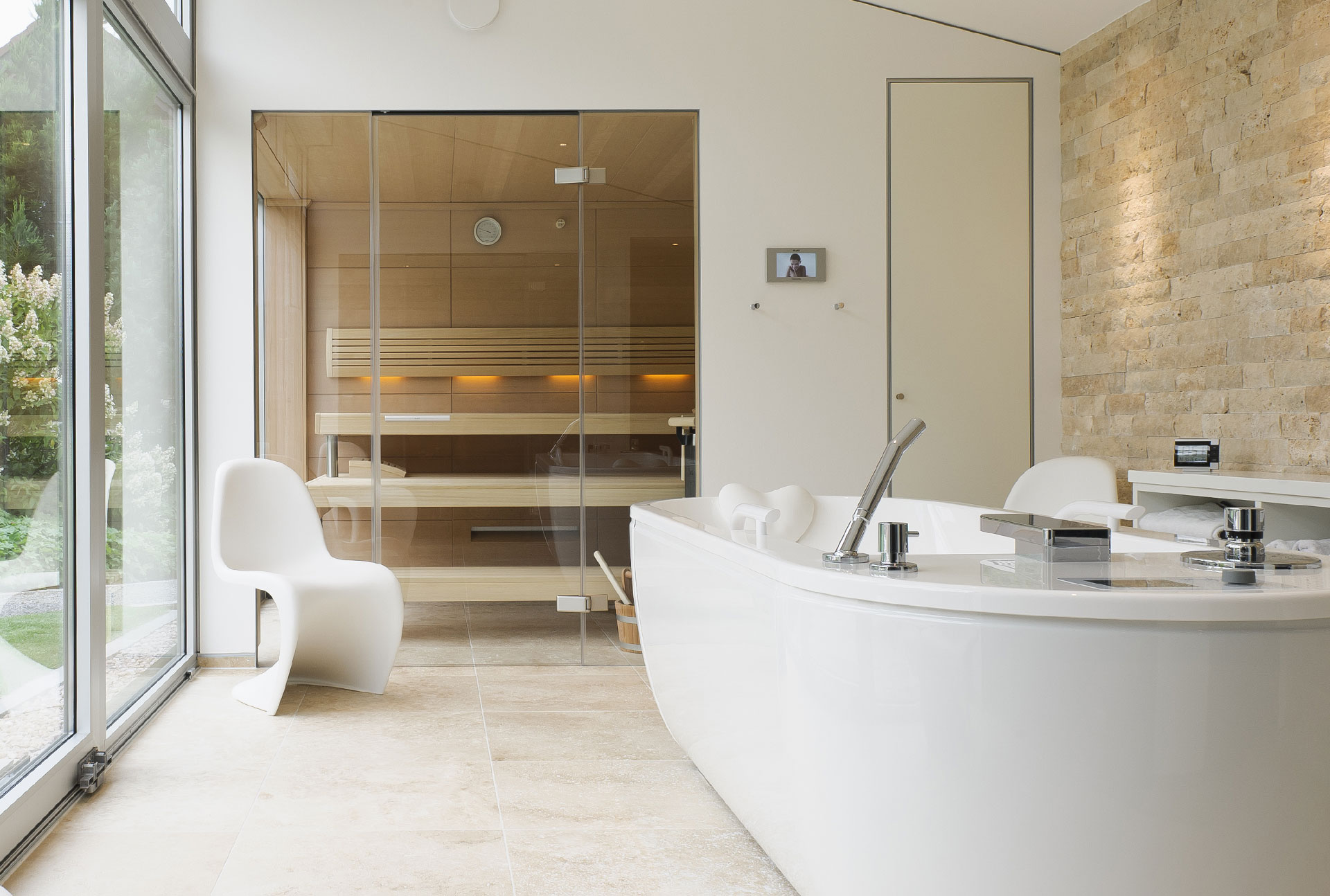 Innenarchitektur-Exlusiver Saunabereich