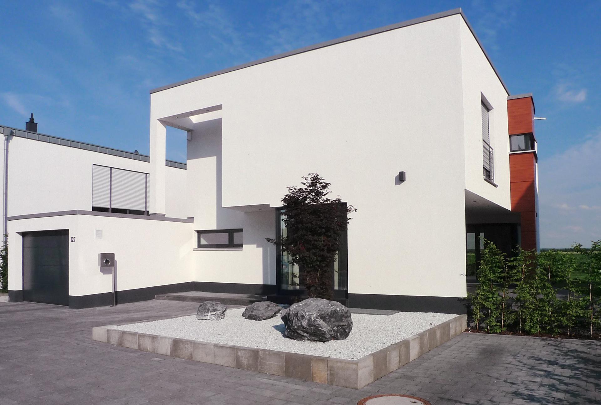 Einfamilienhaus Kubus-Seitenansicht
