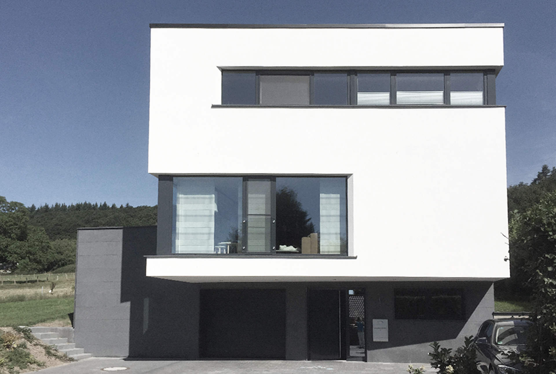 Exklusives Wohnen-Eingang